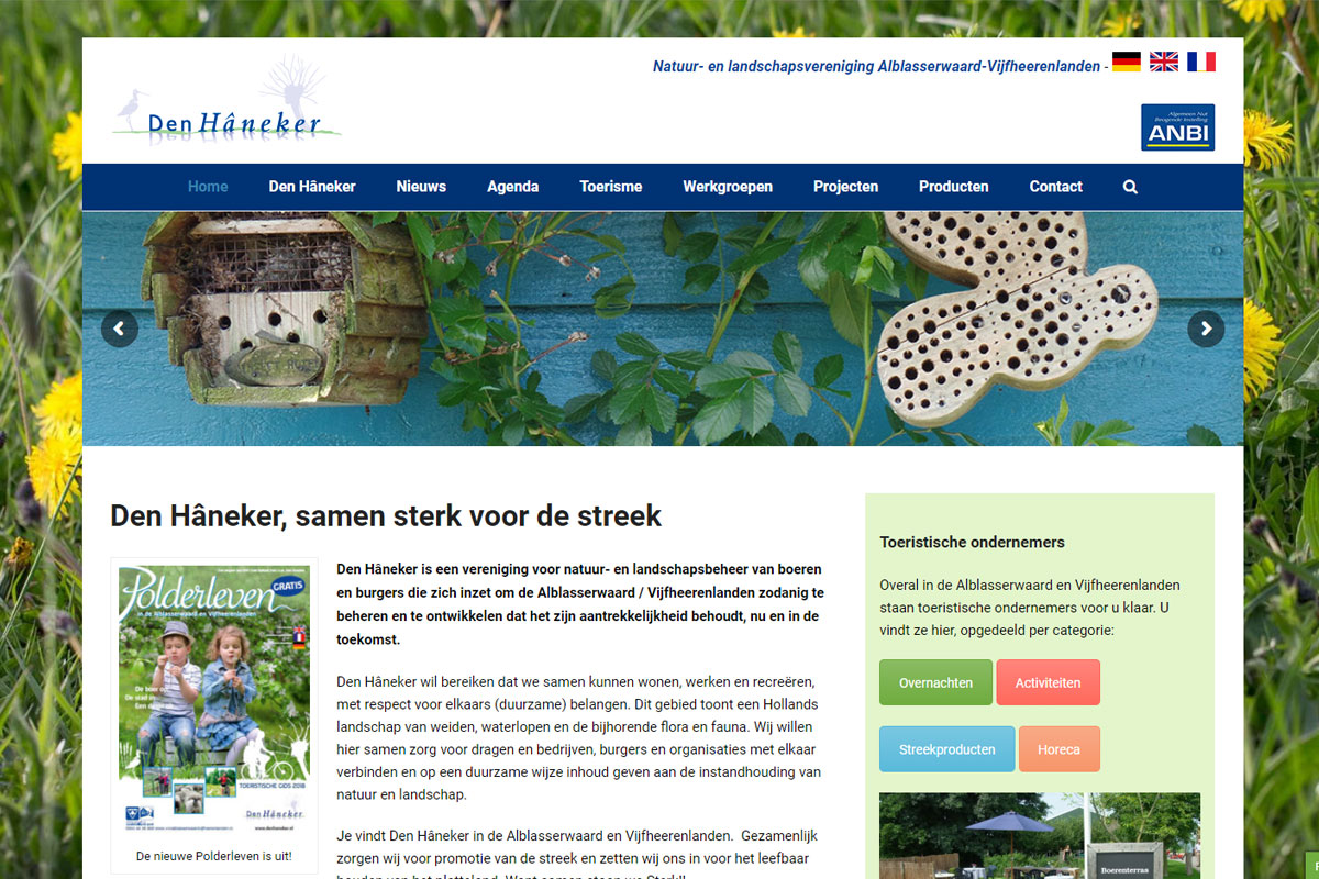 Den Hâneker Website