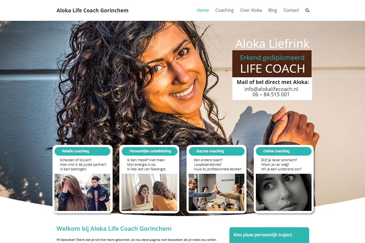 Aloka Life Coach Website