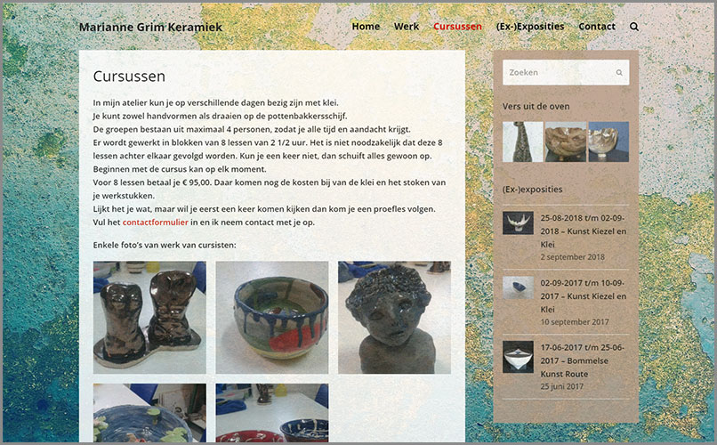 Website Marianne Keramiek